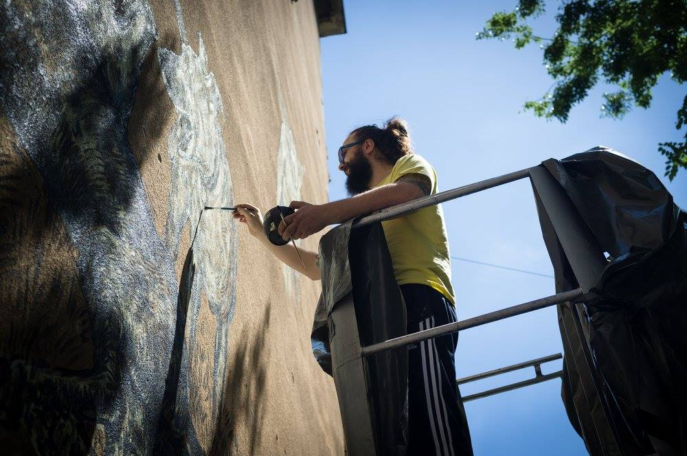 "Mural ""Zagreb: otvoreni grad?"" by Miron Milić"